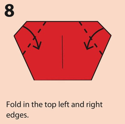 How to fold an origami character. Origami Daruma Doll - Step 8