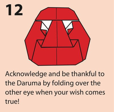 How to fold an origami character. Origami Daruma Doll - Step 12