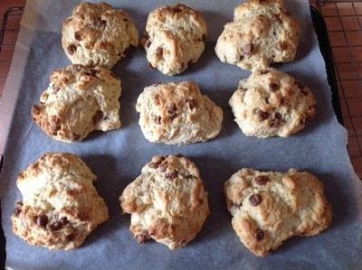 How to cook a baked treat. Choc Chip Scones - Step 6