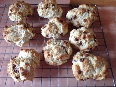 How to cook a baked treat. Choc Chip Scones - Step 7