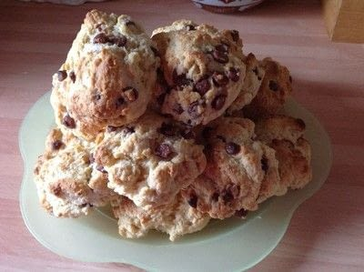 How to cook a baked treat. Choc Chip Scones - Step 8