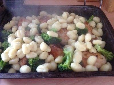 How to cook a chicken dish. Chicken & Broccoli Gnocchi  - Step 3