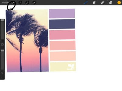 How to make a computer art. How To Create Custom Procreate Color Palettes  - Step 2