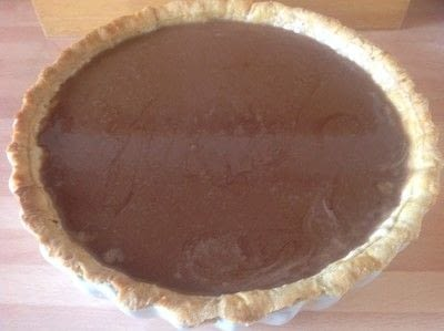 How to bake a chocolate tart. Chocolate & Toffee Tart - Step 9