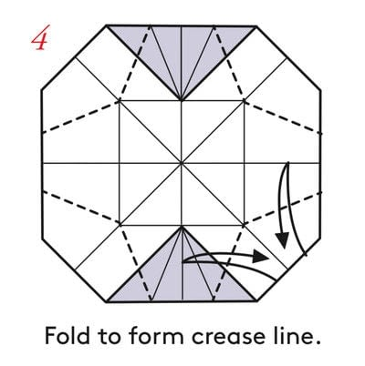 How to fold an origami box. Pyramid Box Base - Step 4