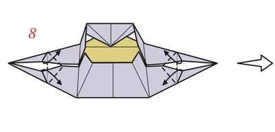How to fold an origami box. Pyramid Box Base - Step 9