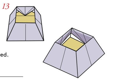 How to fold an origami box. Pyramid Box Base - Step 14