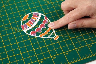 How to cut a piece of papercutting. Basking Balloons - Step 1