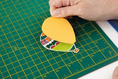 How to cut a piece of papercutting. Basking Balloons - Step 3