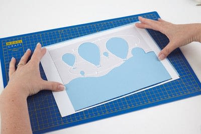 How to cut a piece of papercutting. Basking Balloons - Step 4