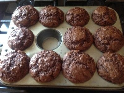 How to bake a chocolate chip muffin. Cheat Chocolate Chip Muffins  - Step 4