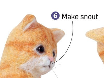 How to make a cat plushie. Needle Felted Tabby Cat - Step 6