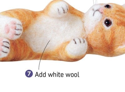 How to make a cat plushie. Needle Felted Tabby Cat - Step 7