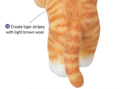 How to make a cat plushie. Needle Felted Tabby Cat - Step 12