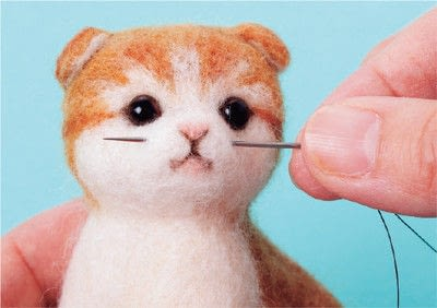 How to make a cat plushie. Needle Felted Tabby Cat - Step 17
