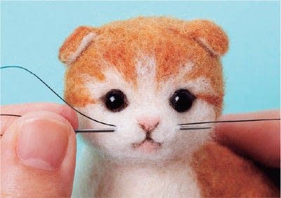 How to make a cat plushie. Needle Felted Tabby Cat - Step 18