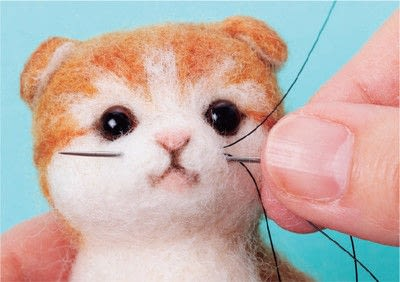 How to make a cat plushie. Needle Felted Tabby Cat - Step 19