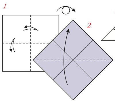 How to fold an origami box. Pyramid Boxes - Step 1