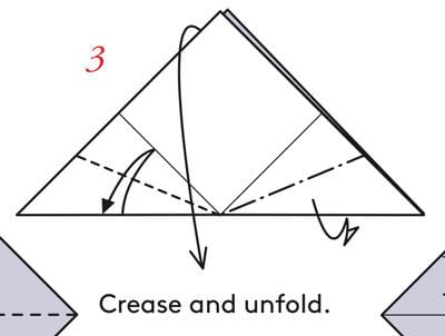 How to fold an origami box. Pyramid Boxes - Step 2