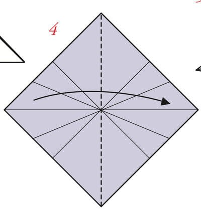 How to fold an origami box. Pyramid Boxes - Step 3