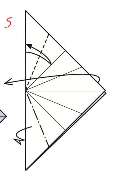 How to fold an origami box. Pyramid Boxes - Step 4
