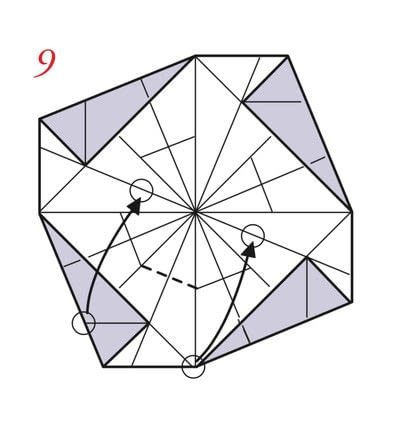How to fold an origami box. Pyramid Boxes - Step 8