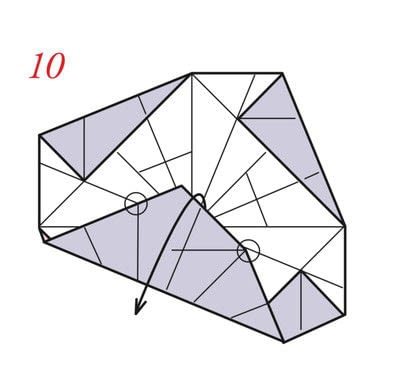How to fold an origami box. Pyramid Boxes - Step 9
