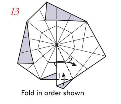 How to fold an origami box. Pyramid Boxes - Step 12