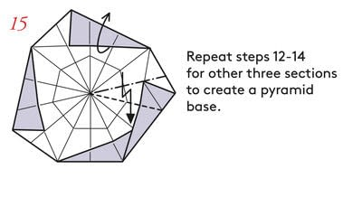 How to fold an origami box. Pyramid Boxes - Step 14