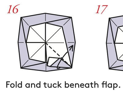 How to fold an origami box. Pyramid Boxes - Step 15