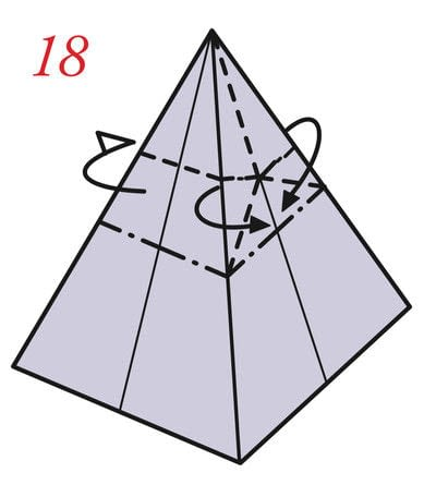 How to fold an origami box. Pyramid Boxes - Step 17