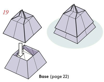 How to fold an origami box. Pyramid Boxes - Step 18