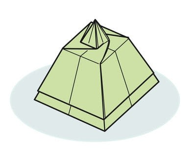 How to fold an origami box. Pyramid Boxes - Step 21