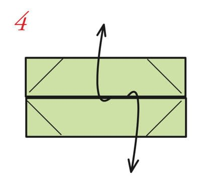 How to fold an origami box. The Traditional Masu Box - Step 3
