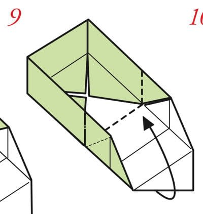 How to fold an origami box. The Traditional Masu Box - Step 8
