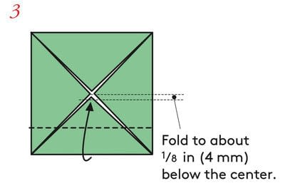 How to fold an origami box. The Traditional Masu Box - Step 11