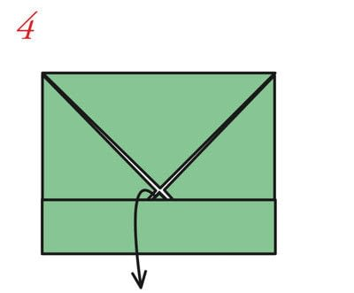 How to fold an origami box. The Traditional Masu Box - Step 12