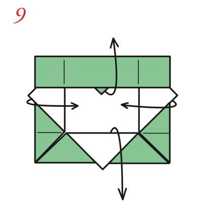 How to fold an origami box. The Traditional Masu Box - Step 17