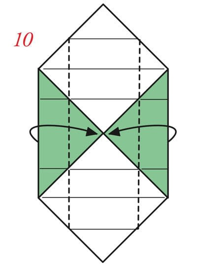 How to fold an origami box. The Traditional Masu Box - Step 18