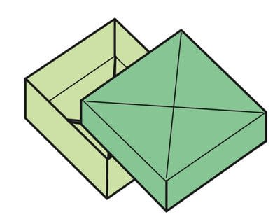 How to fold an origami box. The Traditional Masu Box - Step 21