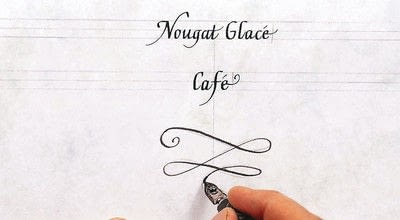 How to create art / a model. A Celebration Menu In French Lettering - Step 5