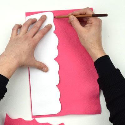 How to make a piece of paper art. Felt Flower Arrangement - Step 1