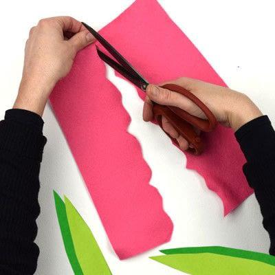 How to make a piece of paper art. Felt Flower Arrangement - Step 2