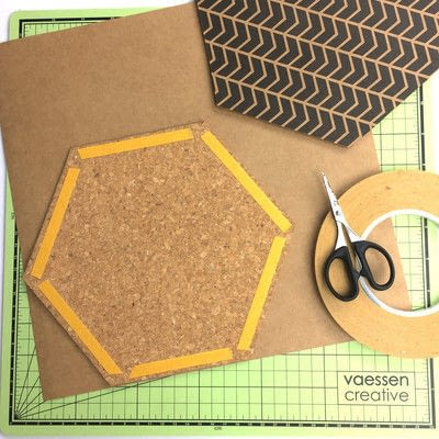 How to make a hanging. Hexagon Wall Decoration - Step 2