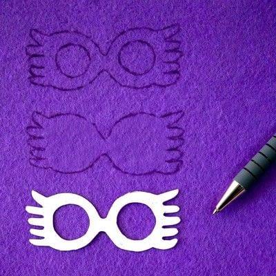 How to sew a fabric charm. Key Ring Luna Lovegood - Step 2