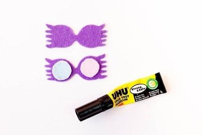 How to sew a fabric charm. Key Ring Luna Lovegood - Step 4