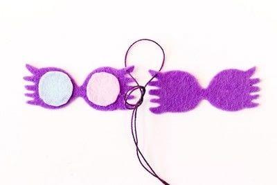 How to sew a fabric charm. Key Ring Luna Lovegood - Step 5