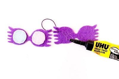 How to sew a fabric charm. Key Ring Luna Lovegood - Step 6