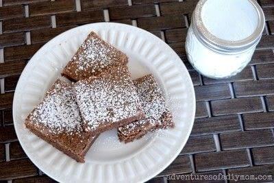 How to bake a brownie. Grandma's Easy One Bowl Brownies - Step 2