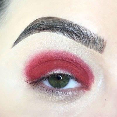 How to create a cut crease eye makeup look. Red Cut Crease Tutorial - Step 3
